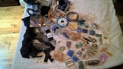 Job Lot Of Jewellery Beads/Findings/ Wire/Lace
