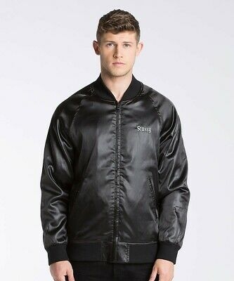 PA1 RRP £149.99 Mens Stussy Sport Nylon Black Jacket