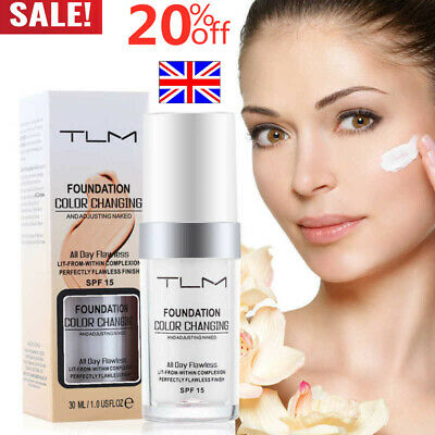 Magic Flawless Colour Color Changing Foundation TLM Makeup Change Skin Tone UK..