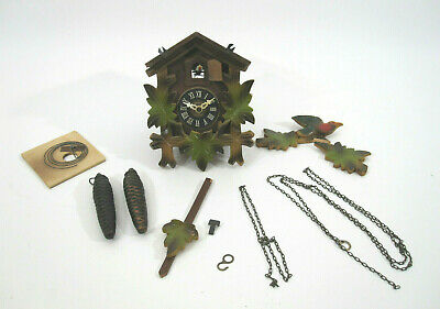 Vtg German Black Forest Cuckoo Clock A. w/ Bird & Bellow Noise A 25-83 Regula