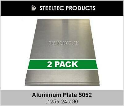 """2 PACK - 1/8"""" Aluminum Sheet Plate 24"""" x 36""""  5052 - Save When You Buy 2"""