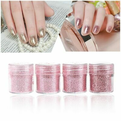 Acrylic Nail Art Glitter Powder DIY Manicure Rose Gold Sequins Chrome Pigment