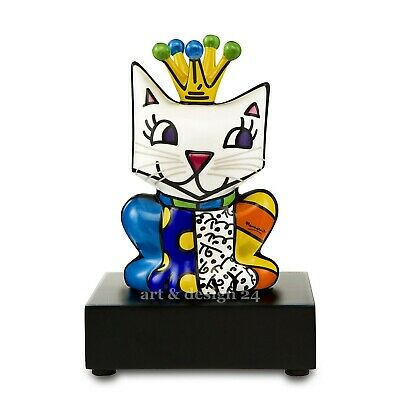 LA CAT Goebel Figur Katze cool cat chat PopArt 66450867 Romero Britto Selfie