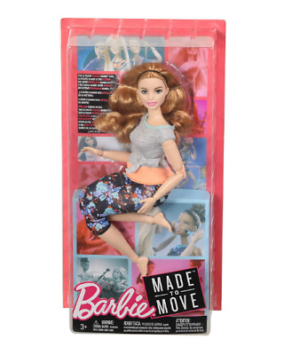 Barbie Made to Move Puppe Fitness Yoga bewegliche Gelenke Barbie Puppe NEU