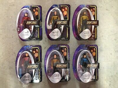 "Diamond Select Toys Star Trek TNG The Next Generation 6 2nd Tier Figures 7"" lot."