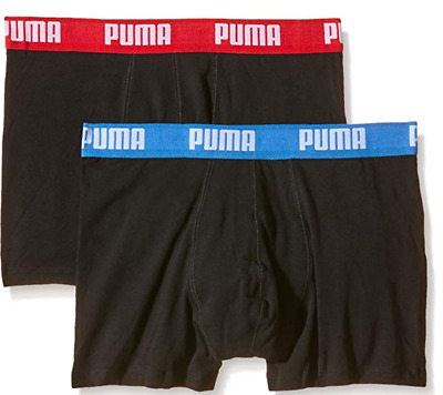 BNIP Puma Men's Boxer Shorts - 2 Pack - Black  - XL