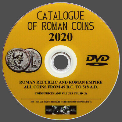 Roman Coins Catalog 2020 On Dvd - The Most Complete On The Market - Original
