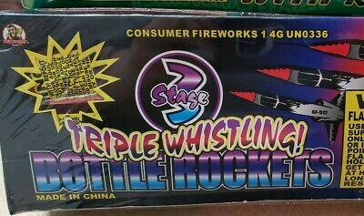Fireworks labels collection 3 Stage Triple Whistling  Labels 12/144 Labels