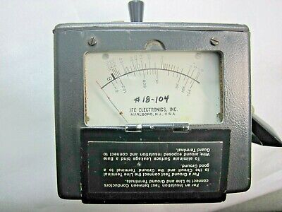 Megger Meg Ohmmeter Jfc Electronic # Mini-500 Tested Ok See Pictures Loc. A-4