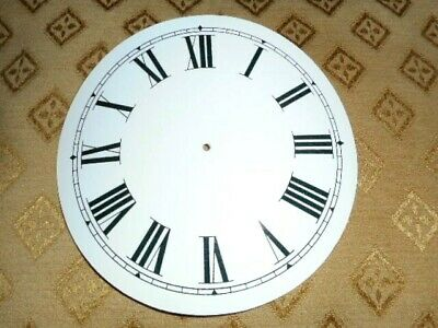 "Round Paper (Card) Clock Dial - 4"" M/T - Roman - WHITE GLOSS - Parts/Spares"