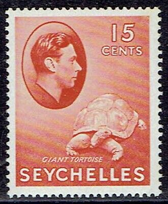 Seychelles 1942 sg139ab 15c Brown-Red MNH