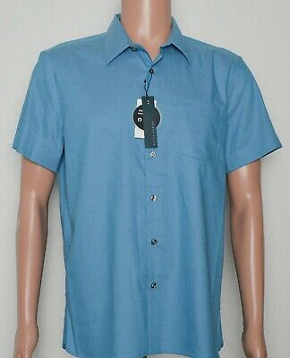 Perry Ellis #9369 NEW Men's Slim Fit Stretch Short Sleeve Button Front Shirt $65