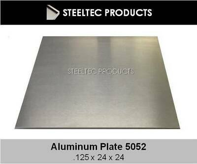 """2 PACK - 1/8"""" .125 Aluminum Sheet Plate 24"""" x 24""""  5052  Save $ When You Buy 2!"""
