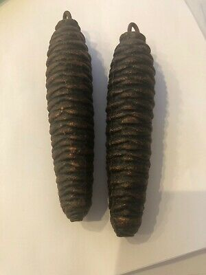 "2 LARGE CUCKOO CLOCK PINECONE WEIGHTS PARTS 4.5"" 9oz. Each"