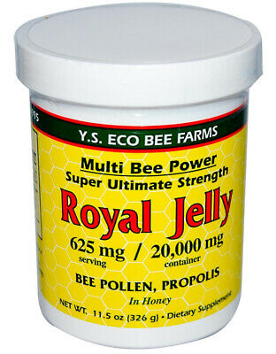 Y.S. Organic Bee Farms #610 - Royal Jelly Bee Pollen Propolis in Honey - 11.5 oz