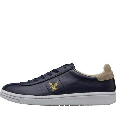 Lyle And Scott Mens Cooper Trainers Navy size 8(42) RRP £74