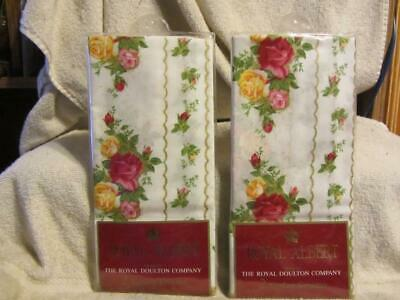 "4 17'x17"" new vintage Royal Albert Doulton Old Country Roses napkins serviettes"