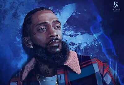 Nipsey Hussle Art Poster Tribute by Inking Solstice - Rap Hip-Hop - 11x17 13x19