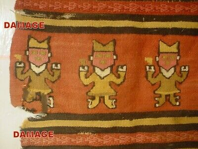 Large 16 1/2 Inch Complete Pre-Columbian Chancay Apron