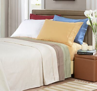 1000-Thread-Count Pillowcases 100/% Egyptian Cotton 7 Colors