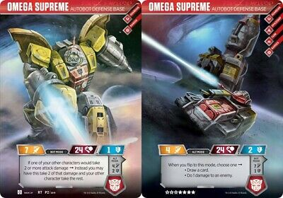 FLASH SALE _1 Rare Omega Supreme Autobot Transformers Trading Card Exclusive TCG