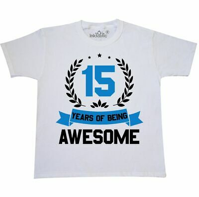 Inktastic 11 Years Of Being Awesome Blue Birthday Youth T-Shirt Birthdays 11th