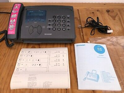 RARE Working Sharp UX-40 FAX Machine with Instruction Manual - GQ