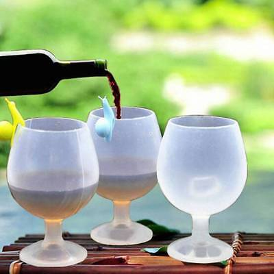 Portable Rubber Whisk Beer Red Wine Collapsible Cups For Outdoor Party Picni AU