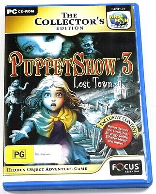 Puppetshow 3 Lost Town Game PC Hidden Object Mystery Puzzle Adventure Mysteries