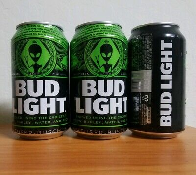 Budlight Limited Edition Area 51 Alien Beer Can.  Available For A Short Time...