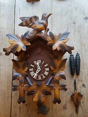 Large Vintage Black Forest Cuckoo Clock