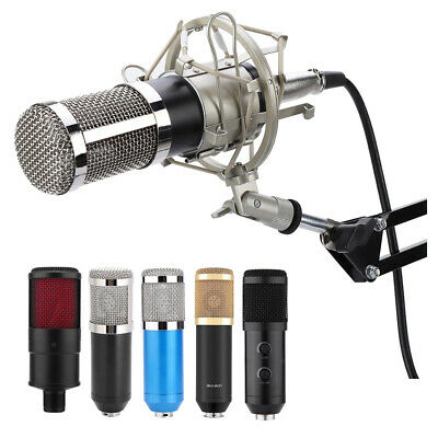 BM800 Condenser Microphone Audio Mic Stand Kit for Studio Recording Broadcasting
