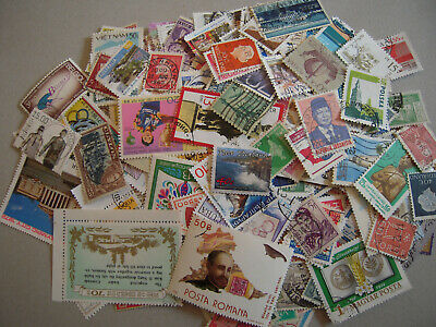 Lot 500 Timbres Differents Obliteres Tous Pays