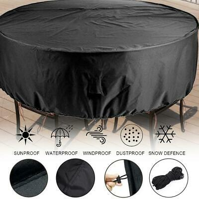 Outdoor Round Furniture Cover Waterproof Patio Table Chair Set Cover for Garden