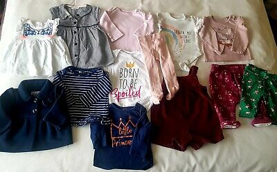 Baby Girls Clothes Bundle Age 0-3 Months, Next/Tu/Very/F&F, Dress/Pants/Jacket