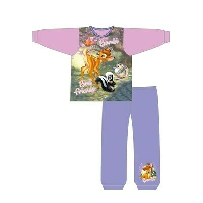 Girls Bambi Pyjamas Kids Pink Nightwear 18 months to 5 Years Doe Animal