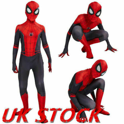 Kids Boys Spider-Man Far From Home Spiderman Zentai Child Cosplay Costume Suit&