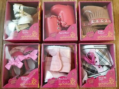 """Our Generation OG Shoes Boots Sneakers for 18"""" Dolls Lot of 6 Fits American Girl"""