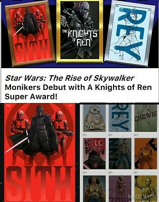 Topps Star Wars Card Trader Rise of Skywalker Monikers Set + Meld + Speed Award