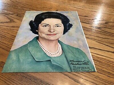 "Signed Norman Rockwell ""Lady Bird Johnson Portrait"" The Saturday Evening Post"
