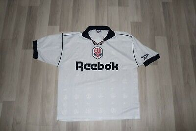 Bolton Wanderers Home Shirt 1995. L. Reebok. White Adults Football Top