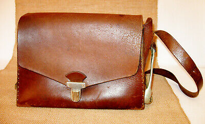 Antique Doctor Bag - Country Rustic Brown Leather - HOMA Swiss GRC Medicine Bag