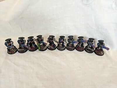 10 Deathwatch Primaris Hellblasters painted Warhammer 40k Space Marines Imperium