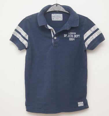 Marks & Spencer Denim Style Polo Shirt Top Age 9-10 years