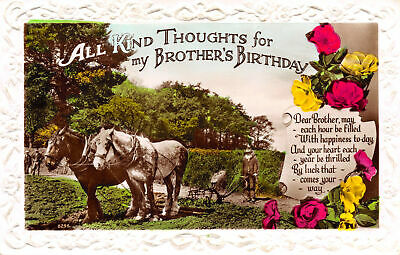 R137425 All Kind Thoughts for my Brothers Birthday. Dear Brother may each hour b