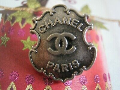 CHANEL  1 CC  LOGO SILVER  18mmx15mm BUTTON THIS IS FOR ONE