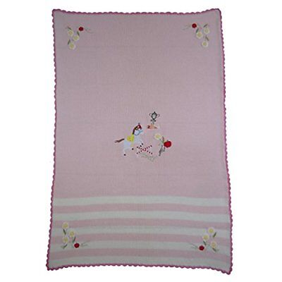my pony knitted cot blanket