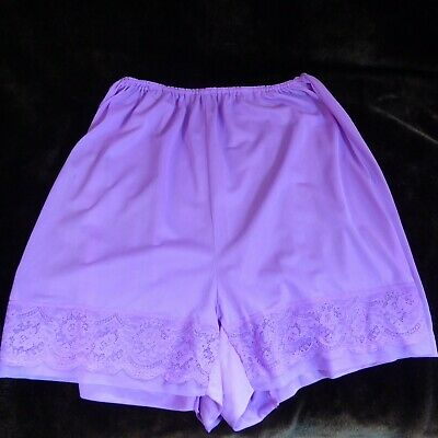 Purple Semi Sheer Vintage Granny Knickers Pants Big Knickers w 22-44 inches