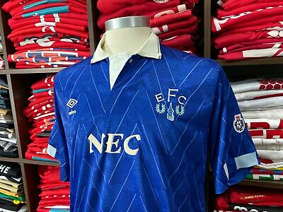 EVERTON FC home 1989/91 shirt - COTTEE #10 - West Ham-Leicester-Umbro-Nec-Jersey