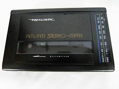 Retro 90s Realistic Stereo-Mate SCP-36 Vintage Cassette Tape Player For Parts